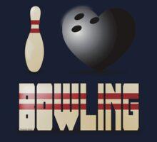 I love bowling - ball Kids Tee