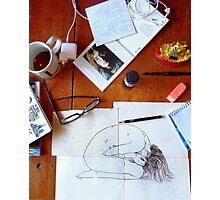 morning drawing Photographic Print