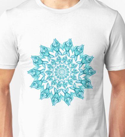 pattern fish blue_circle Unisex T-Shirt