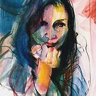 Janine in Pastel by Stephen Gorton