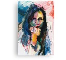 Janine in Pastel Canvas Print