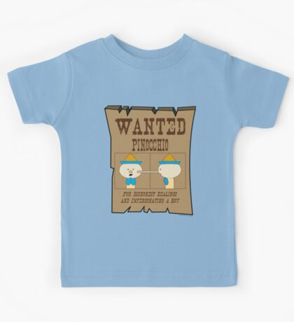Wanted: Pinocchio Kids Tee