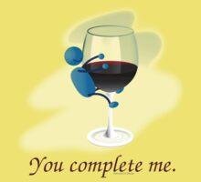 You complete me -- wine Kids Tee