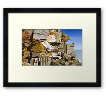 The Cliffs of North Bondi Framed Print