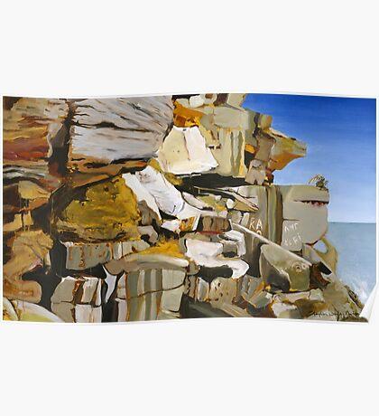 The Cliffs of North Bondi Poster