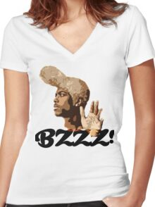 BZZZ! Women's Fitted V-Neck T-Shirt