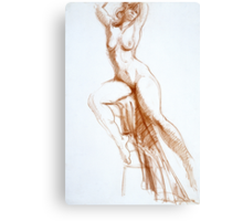 Stretching Figure Canvas Print