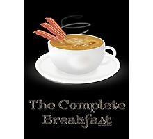Bacon and Coffee: the Complete Breakfast (light) Photographic Print