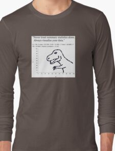 Datasaurus: Never trust summary statistics alone. Always visualize your data Long Sleeve T-Shirt
