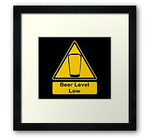 Beer Level Low Framed Print