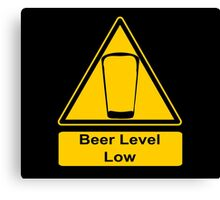 Beer Level Low Canvas Print