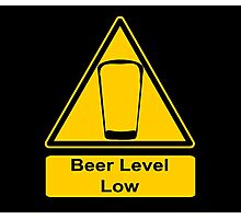 Beer Level Low Photographic Print
