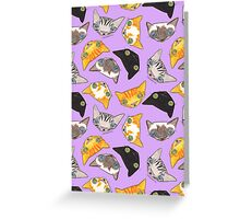 """""""Oro?"""" Cats - Lavender Greeting Card"""