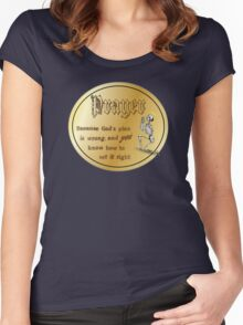 Prayer: because God's plan is wrong. Women's Fitted Scoop T-Shirt