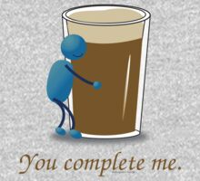 You complete me -- beer Kids Clothes