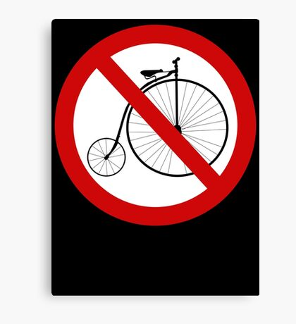 Ban olde-timey bikes Canvas Print