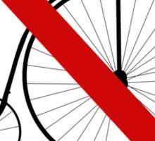 Ban olde-timey bikes Sticker
