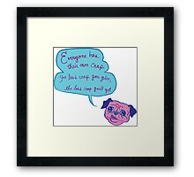 Pug Advice Framed Print