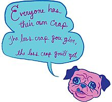 Pug Advice Photographic Print