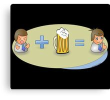 Sad + Beer = Awesome Canvas Print