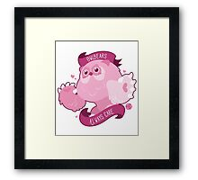 Kawaii Owlbear Framed Print