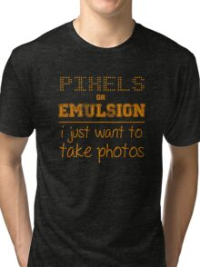 Pixels or Emulsion Tri-blend T-Shirt