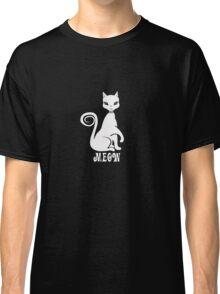 cute baby kitten black cat meow Classic T-Shirt