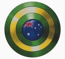 CAPTAIN AUSTRALIA - Captain America shield inspired Oz version Kids Tee