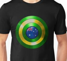 CAPTAIN AUSTRALIA - Captain America shield inspired Oz version Unisex T-Shirt