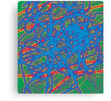 Neon abstraction Canvas Print