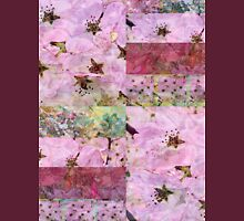 Cherry Blossom Quilt  Womens Fitted T-Shirt