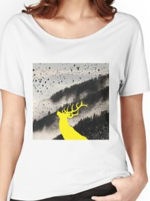 Oh Deer Yellow Women's Relaxed Fit T-Shirt