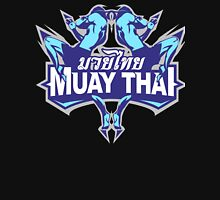 muay thai fighter blue thailand martial art badge logo Unisex T-Shirt