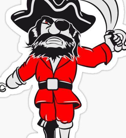 Pirat holzbein dreispitz degen  Sticker