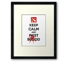Keep Calm and First Blood Framed Print