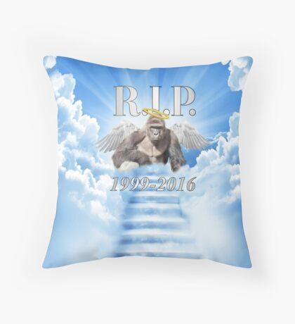 RIP Harambe Throw Pillow