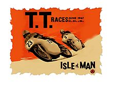 ISLE OF MAN TTRETRO VINTAGE POSTER STYLE Photographic Print