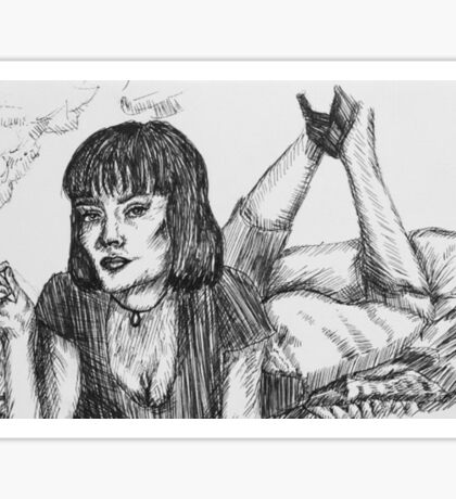 Pulp Fiction - Mia Wallace Collection Sticker