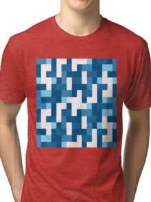 Geometric color Tri-blend T-Shirt