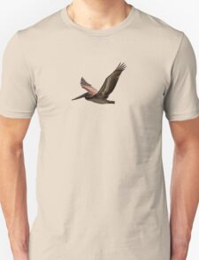 Brown pelican in flight Unisex T-Shirt