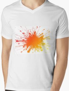 Sbam Color Mens V-Neck T-Shirt