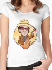 elvis costello Women's Fitted Scoop T-Shirt