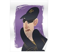 Phil Hellmuth Professional Poker Player Caricature Poster