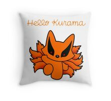 hello kurama Throw Pillow