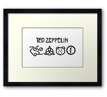 TED Zeppelin Rocks! Framed Print