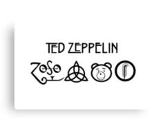 TED Zeppelin Rocks! Canvas Print