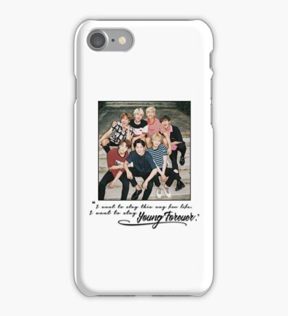 KPOP BTS YOUNG FOREVER LYRIC PIECE iPhone Case/Skin