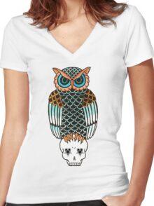 Owl-a-gram 2 Women's Fitted V-Neck T-Shirt