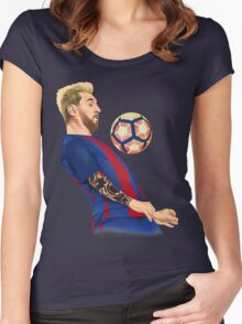 Neo Messi Women's Fitted Scoop T-Shirt
