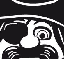 Pirat dreispitz witzig  Sticker